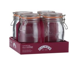 1.0 L 1.0 litre Kilner jar round clip top glass storage jar Mason Jar Set of 4 kitchen storage jars Heart of the Home Lytham www.potdolly.com 0025.022_2
