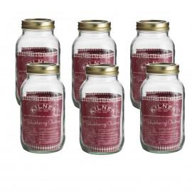 1602.048kilner 1.0 ltire set 6 preserve jars