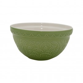 1608.009mason cash 21cm hedgehog embossed green mixing bowl