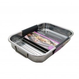 1608.299mason cash stainless steel roasting tray 37x26cm