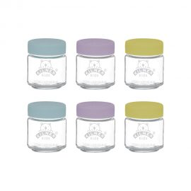 Kilner Kids Jars 110ml set of 6 Baby food prep jars silicone lid food preparation jars freezer safe Heart of the Home Lytham www.potdolly.com