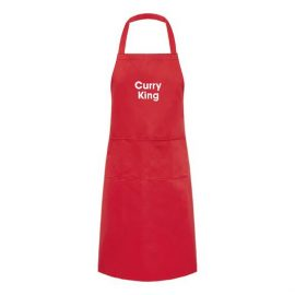 Adult Apron Curry King Red Apron Mens Apron Kitchen Apron Heart of the Home Lytham www.potdolly.com