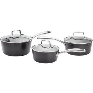 STELLAR ROCKTANIUM 3 PIECE PAN SET SAUCEPANS 16cm 18CM 20CM SAUCE PAN HEART OF THE HOME LYTHAM POTDOLLY SPA1