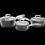 STELLAR ROCKTANIUM 3 PIECE PAN SET SAUCEPANS 16cm 18CM 20CM SAUCE PAN HEART OF THE HOME LYTHAM POTDOLLY SPA1