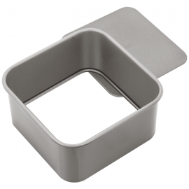 JUDGE BAKEWARE SQUARE CAKE TIN 6 INCH DEEP CAKE TIN LOOSE BASE NON STICK HEART OF THE HOME LYTHAM WWW.POTDOLLY.COM