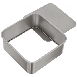 JUDGE BAKEWARE SQUARE CAKE TIN 8 INCH DEEP CAKE TIN LOOSE BASE NON STICK HEART OF THE HOME LYTHAM WWW.POTDOLLY.COM