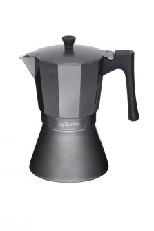 Le'Xpress 9-Cup Induction-Safe Stovetop Espresso Maker Coffee Percolator Heart of the Home Lytham www.potdolly.com LX9CUPGRY - Copy